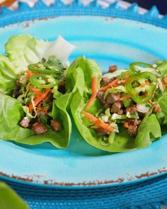 Chicken and Steak Lettuce Cups