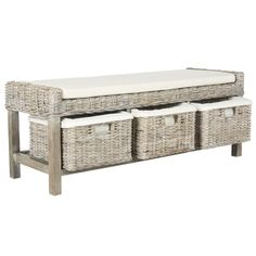 Shop for Safavieh Kobutsu White Storage Bench. Get free shipping at Overstock.com - Your Online Furniture Outlet Store! Get 5% in rewards with Club O!