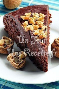 Photo de la recette Gâteau au chocolat et aux noix