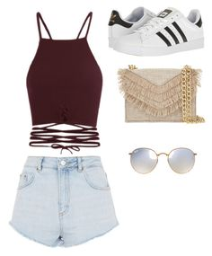 """Untitled #11"" by teresagonzalez2931 on Polyvore featuring Topshop, adidas, Cynthia Rowley and Ray-Ban"