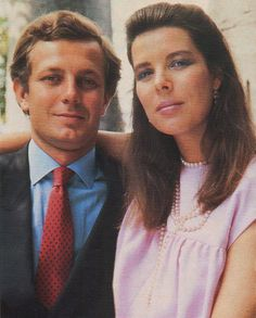 Caroline and Stefano Casiraghi 1987