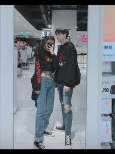 Couple Outfit ulzzang Would you rather wear couple outfit 1 or 2 Would you rather wear couple outfit 1 or 2 Matching Couple Outfits, Matching Couples, Cute Couples, Mode Ulzzang, Ulzzang Girl, Korean Couple, Couple Aesthetic, Aesthetic Clothes, Aesthetic Hair