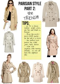 Parisian Style, Part 2: The Trench | Stripes & Sequins (2012)