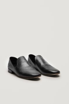 COS image 2 of Leather loafers in Black