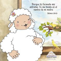 imagenes de ovejitas & ovejitas - Buscar con Google Bible Scriptures, Bible Quotes, Baby Surprise Announcement, Holly Bible, Bible Stories For Kids, Abba Father, Words Of Hope, Happy Birthday Messages, Jesus Loves Me