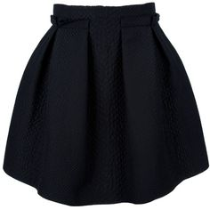 LANVIN Pleated skirt found on Polyvore