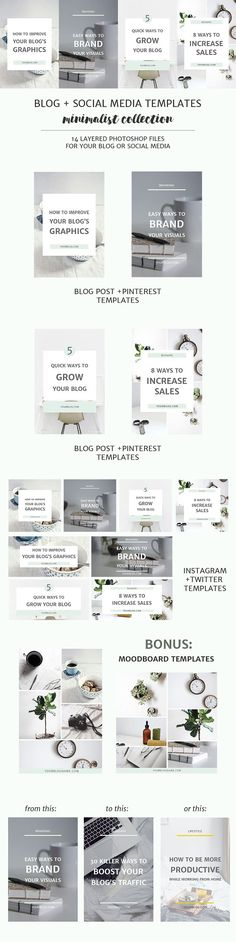 Eye-catching blog post images will attract people to your blog and even convince them to return. The easiest way to create them is by using blog post and social media image templates. These matching image templates will help you achieve a cohesive and professional look for your blog or business.