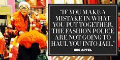 Fashion Quotes Creative Iris Apfel For 2019 Purple Flower Centerpieces, Purple Wedding Flowers, Iris Apfel Quotes, Rustic Pictures, Asian Cute, E Cards, Fashion Quotes, Fashion Tips, Trendy Wedding