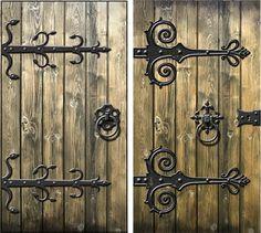 Medieval wooden door texture