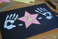How cute is this! Who needs a star on the Walk of Fame when you can make your own! MirandaMade: Your Own Hollywood Star
