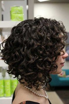 Curly inverted bob haircut I supposed you already know and want a bob hair cut. Or maybe not, but after you read this you will want a curly inverted Bob haircut for sexy bold look. Curly Inverted Bob, Inverted Bob Hairstyles, Haircuts For Curly Hair, Short Wavy Hair, Curly Hair Cuts, Curly Hair Styles, Wavy Hairstyles, Short Haircuts, Medium Curly Bob