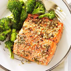 Herb-Roasted Salmon Fillets Recipe -My roasted salmon is so simple but elegant enough to serve to company. I make it on days when I have less than an hour to cook. —Luanne Asta, East Hampton, New York