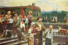 Васильев Юрий Васильевич (Россия, 1925-1990) «Из пионерского лагеря» 1954