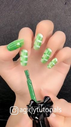 If you like it with an attractive nail design and you can try it at home #nailart #naildesign #diynail #agirlytutorials