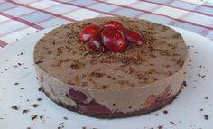 Cheesecake light al cacao e ciliegie