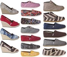 TOMS shoes. They are beautiful.Holy cow Some less than $20 I'm gonna love this site!