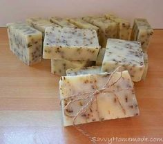 "Previous pinner states, ""I've made this basic soap recipe dozens of times. It's made with simple ingredients to make a great creamy natural homemade soap. It holds a good hardness and lathers up very well and is a good old fashioned lye soap recipe. Soap Making Recipes, Homemade Soap Recipes, Cold Press Soap Recipes, Lye Soap, Bath Soap, Castile Soap, Handmade Soaps, Diy Soaps, Cold Process Soap"
