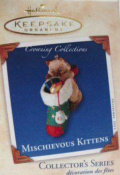 2003 Hallmark Mischievous Kittens Keepsake Ornament 5 in Series Siamese Cat 5th | eBay