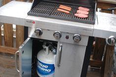 potato salad, baked bean, hot dog  4th of July Burrito - The Food in My Beard