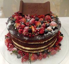 como fazer naked cake chocolate - Pesquisa Google