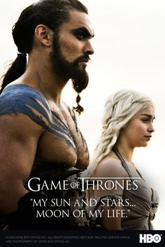 Game of Thrones ... can't wait to watch next season and finish the books! Emilia Clarke, Daenerys Targaryen, Khaleesi, Daenerys And Khal Drogo, Kal Drogo, Iron Throne, Game Of Thrones Poster, Game Of Thrones 3, Game Of Thrones Characters
