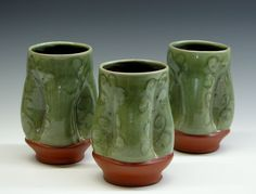 Tumblers by Pincu Pottery - Pincu Pottery offers handmade, functional pottery that is made on the premises. Come watch the potter at work as she crafts these one of a kind items. Sign up for a class or inquire about individual instruction times - adults and children are welcome. Retail area featuring pottery tools as well.