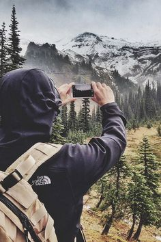 I want this to be me one day. Just a backpack, northface, and camera seeing the world.
