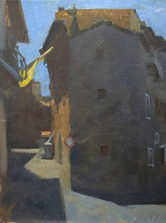 Frank Hobbs Paintings: Italy Oil on primed rag paper Cortona Morning Oil on primed rag paper x Urban Landscape, Abstract Landscape, Landscape Paintings, Oil Paintings, Building Painting, Amazing Paintings, Hobbs, Painting Techniques, Impressionist