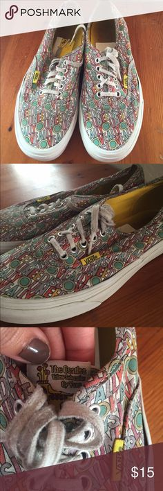 Vans the Beatles shoes Vans. The Beatles yellow submarine addition. Men size 7. Woman's 8.5. Used but deff has some life in them! Vans Shoes Sneakers