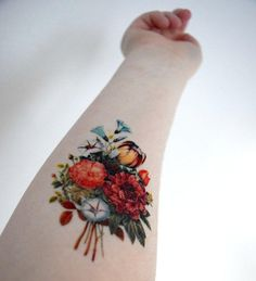 Vintage Floral Temporary Tattoo - Spring from Siideways