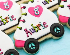 Rollerskate Cookies~ By SweetTweets Roller Skate Cookies Design by SweetTweetsOnline, pink