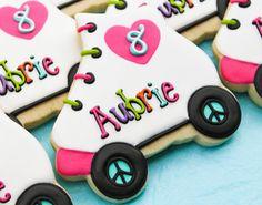 Rollerskate Cookies~         By SweetTweets  Roller Skate Cookies  Design by SweetTweetsOnline, pink