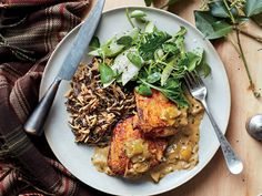 Braised Chicken Thighs with Apples and Wild Rice Recipe  - Erick Harcey | Food & Wine