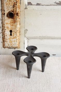 Vintage Dansk Cast Iron Taper Candle Holder by pickedhome