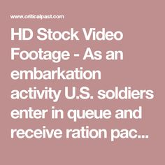 HD Stock Video Footage - As an embarkation activity U.S. soldiers enter in queue and receive ration packets at Camp Merret in New Jersey.