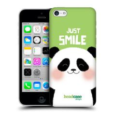 HEAD CASE PANDA HAPPY ANIMAL PROTECTIVE HARD BACK CASE COVER FOR APPLE iPHONE 5C