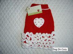 Suéter de perro con volantes de la mano de punto jersey para