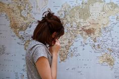 blue, travel and map image on We Heart It