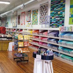 Solid fabric heaven! The Penney's shop at @missouriquiltco!  #ilovemyjob #craftygemini #travels #cgcreates by craftygemini