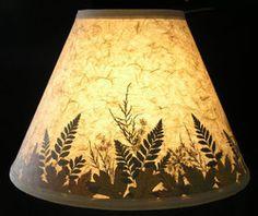 Botanical lamp shade