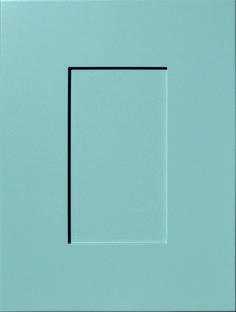 """Modish Flat Panel Door  Available Material: MDF Color Shown: Steel City Paint Available in All Outside Profiles - Shown with 18"""" Roundover Outside Profile Face Framing, Custom Cabinetry, Panel Doors, Cabinet Doors, Color Show, Profile, Paint, Steel, Flat"""