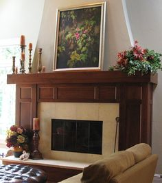 Interior fireplace with a 50-50 mix of General Finishes Java and Candlelite Gel Stain. This gives a warmer look to the Java, and it is not quite as dark. General Finishes Java Gel is available in stores across America, Canada, and the UK, including Rockler & Woodcraft Stores.