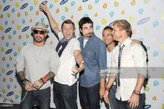AJ McLean, Nick Carter, Kevin Richardson, Howie Dorough and Brian Littrell of The Backstreet Boys attend the Old Navy Rockstar Fashion Show at Bryant Park on September 14, 2012 in New York City.