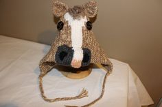 Hand knit custom horse hat by Weebeestix on Etsy, $26.00