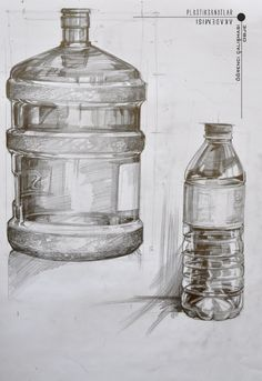 Pencil Sketch Drawing, Pencil Art Drawings, Realistic Drawings, Art Sketches, Still Life Sketch, Still Life Drawing, Bottle Drawing, Object Drawing, Industrial Design Sketch