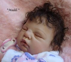 Reborn Baby girl Maddi...Sugar kit by Donna Rupert...4lbs & 6oz's...19 inches...rooted hair..Created by me..2012..