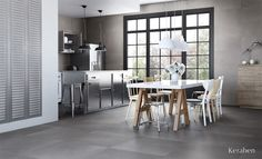 #Evolution de #Keraben perfecta para #cocinas con #estilo http://keraben.es/soluciones-ceramicas/evolution #cuisine #kitchen #tiles #project