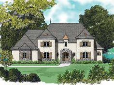 LOVE this floor plan! French Country House Plan with 4450 Square Feet and 5 Bedrooms(s) from Dream Home Source | House Plan Code DHSW53351