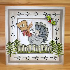 Christmas has arrived at Hobby Art! Introducing CS136D 'Daryl The Quirky Turkey' New Size A5 Clear set contains 22 stamps. Designed by Sharon Bennett. Overall size of set - 235mm x 155mm approx. Card by Heidi Green