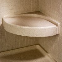 "Swanstone CS-1616-124 Canyon 16""X16"" Corner Shower Seat by Swanstone. $387.80. The Swanstone CS-1616-124 is a Corner Shower Seat with water run-off channel to eliminate water pooling. The Swanstone CS-1616-124 has a molded in canyon color throughout for long lasting looks and life, resists mold and mildew. The Swanstone CS-1616-124 meaures 16 5/16'' by 16 5/16'' x 4'' Tall, fastens to shower walls and will support up to 300 pounds when properly installed. Swanstone is made from ..."